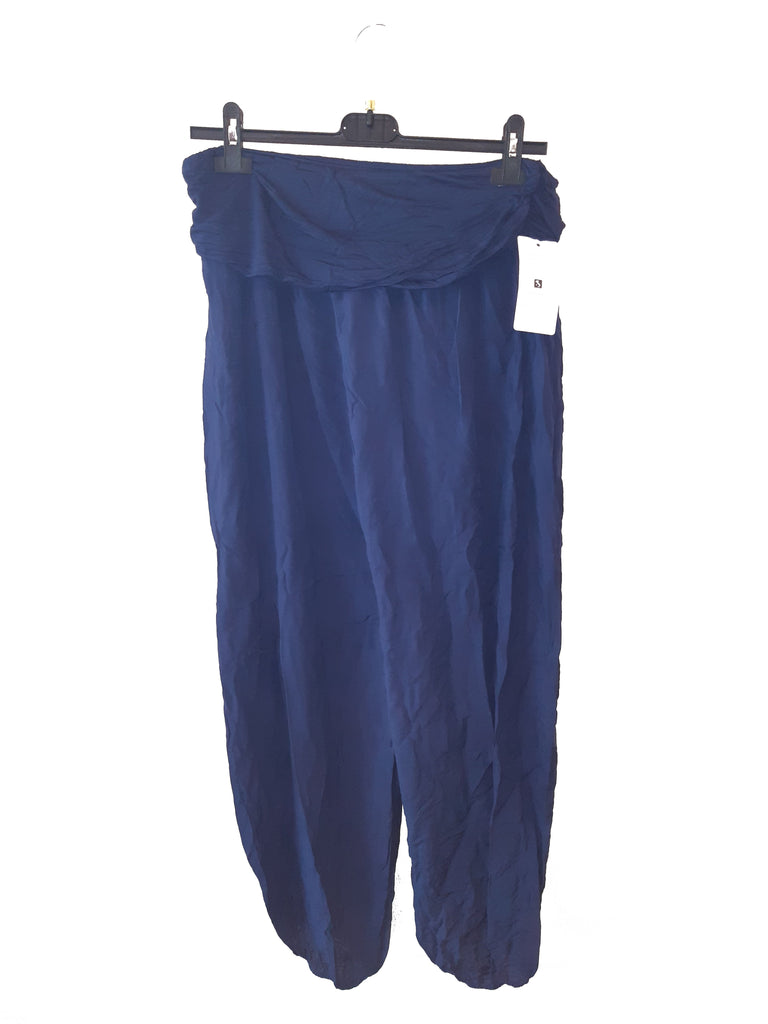 Trousers CAIRO Harlem Pants Plain Viscose Trousers - Vera Tucci OriginalsLondon Clothing NAVY ?id=16929621803145