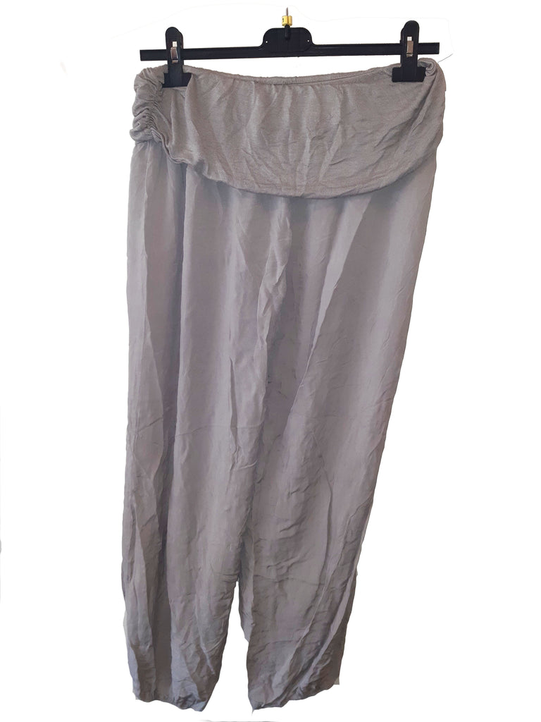Trousers CAIRO Harlem Pants Plain Viscose Trousers - Vera Tucci OriginalsLondon Clothing TAUPE