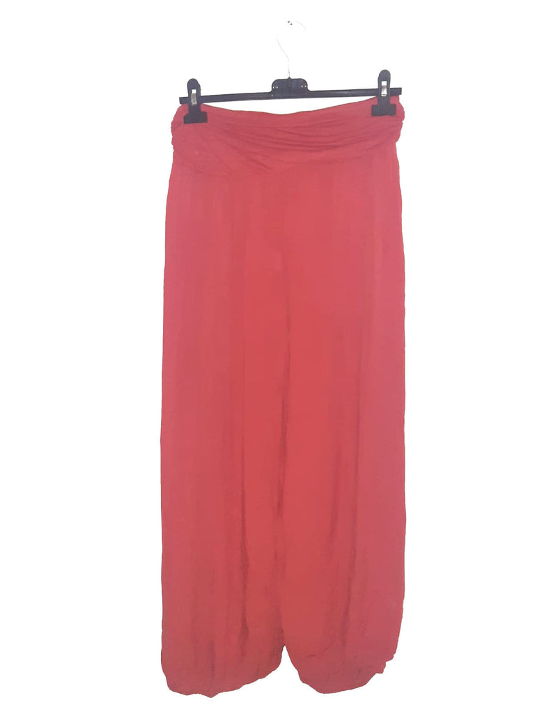 Trousers CAIRO Harlem Pants Plain Viscose Trousers - Vera Tucci OriginalsLondon Clothing JESTER RED ?id=16967034142857