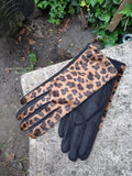 Gloves PAMELA G28 LEOPARD PRINT SUEDE FEEL WOMEN'S GLOVE - Vera Tucci OriginalsAccessories