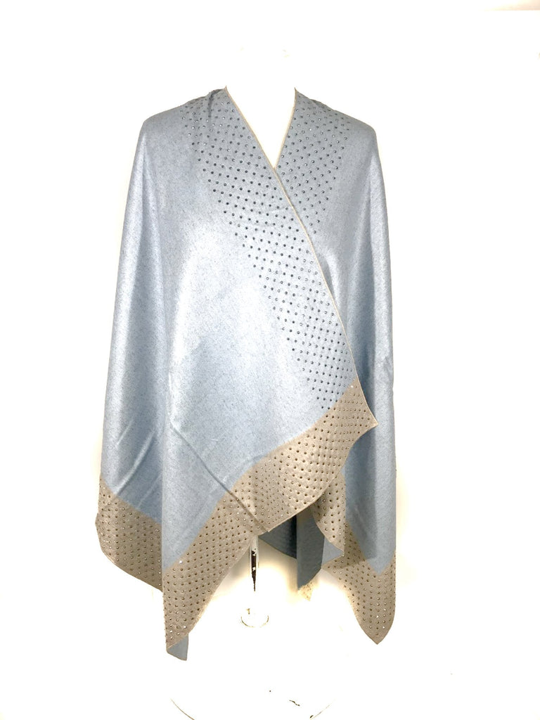 Poncho KELLY - Studed Poncho - Vera Tucci OriginalsAccessories SKY/BEIGE