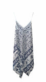 Dress PISTOIA Elephant Pattern Viscose Dress - Vera Tucci OriginalsLondon Clothing LIGHT GREY