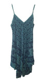 Dress PISTOIA Elephant Pattern Viscose Dress - Vera Tucci OriginalsLondon Clothing TEAL