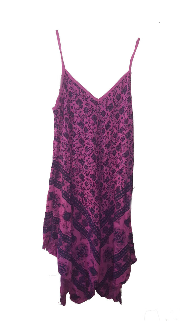 Dress PISTOIA Elephant Pattern Viscose Dress - Vera Tucci OriginalsLondon Clothing FUCHSIA