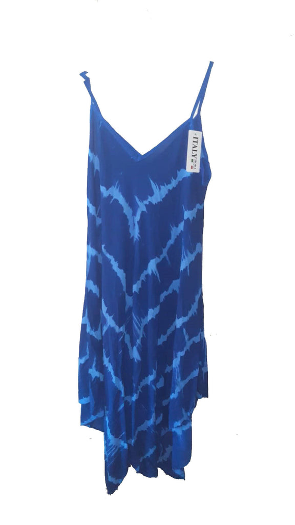 SAN FRANCISCO Tie Dye Style Pattern Viscose Dress