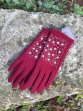 Gloves Brittany Faux Suede Pearl Detail Gloves - KCG28 - Vera Tucci OriginalsAccessories