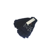 Gloves LENA - G20 MITTS with cover flaps - Vera Tucci OriginalsAccessories NAVY