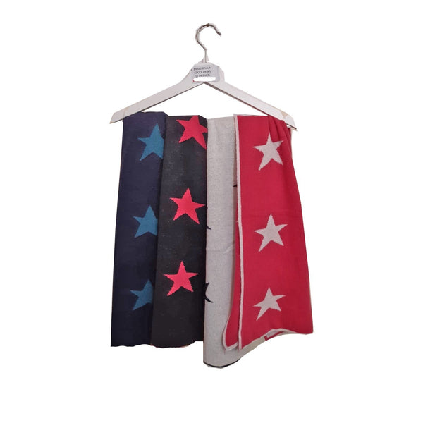 Merino Wool & Cashmere Mix Star Scarf
