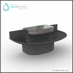 4-User Sensor Operated Sanifount Washfountain in Misty Grey solid Surface with thermostatic mixing valve