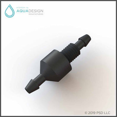 SPCHV-B - Black Soap Check Valve for Intersan Washfountains and Fixtures
