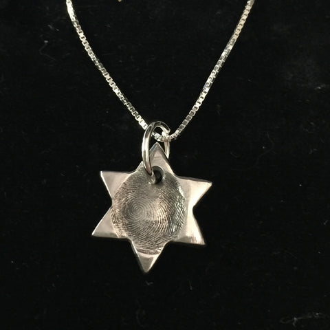 Fingerprint Star Pendant