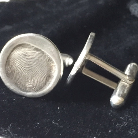 Fingerprint Non Engraved Cufflinks