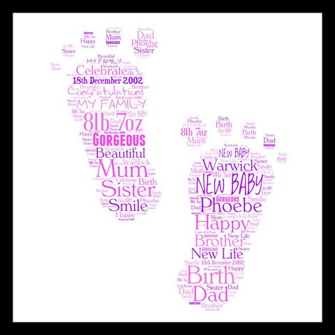 Personalised Footprints WordArt