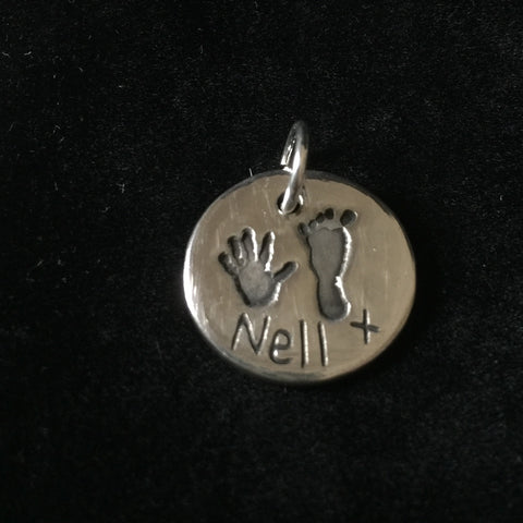 Hand and Foot Round Charm