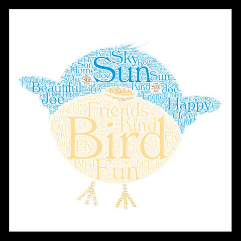 Personalised Bird WordArt