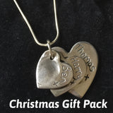 Christmas Gift pack for Fingerprint Triple Descending Heart Necklace