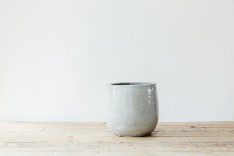 Light Grey Earthenware Pot