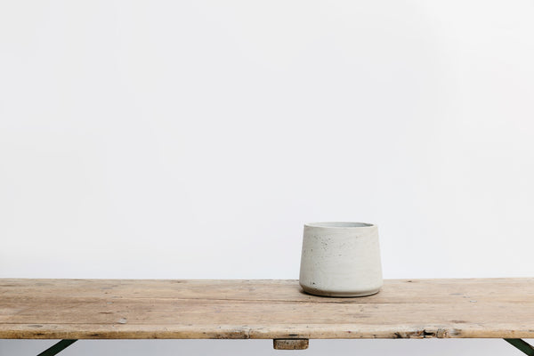 Tapered Pale Cement Pot