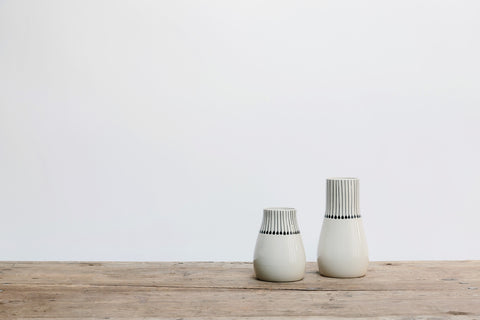 Ceramic Black & White Matchstick Vase