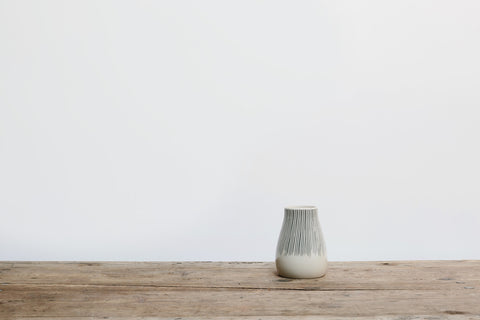 Ceramic Black & White Striped Vase