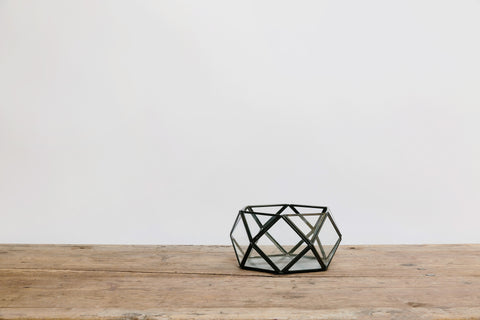 Low Metal & Glass Diamond Terrarium