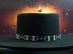 Native American Beaded Ruby Arrowhead Hat Band