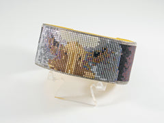 Eagle Eyes Beaded Cuff Bracelet