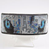 Native American Beaded White Wolf Cuff Bracelet Wildlife