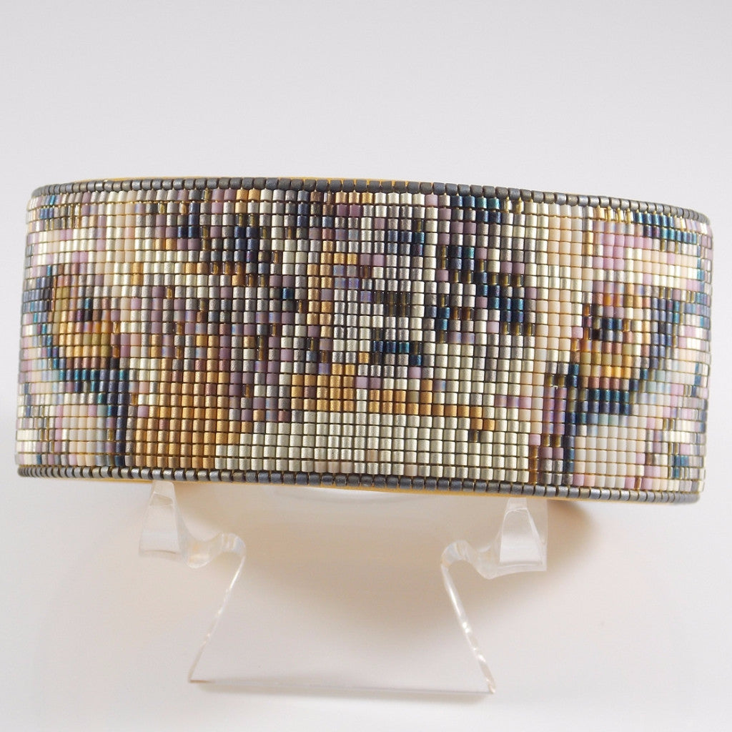 Native American Wildlife Beaded Jaguar Cuff Bracelet