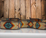 Native American Beaded Morning Star Hat Band