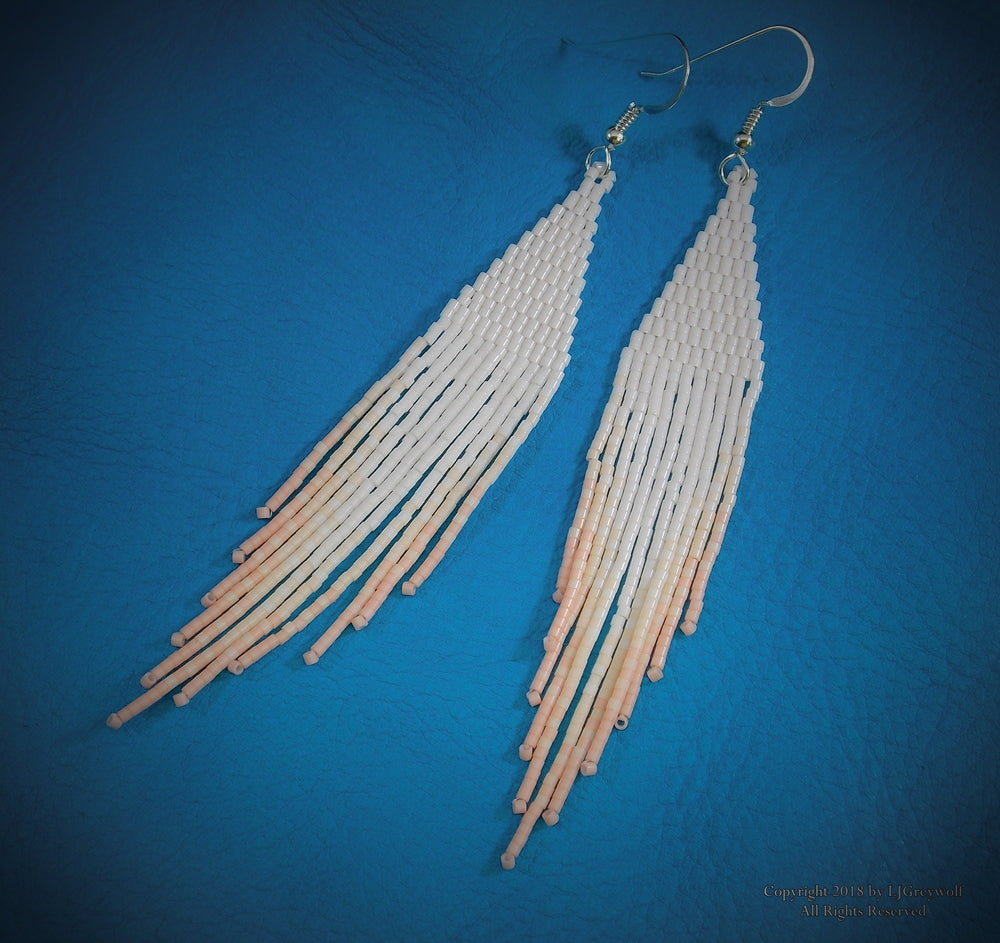 Serenity Native American Beaded Earrings Authentic Cherokee Jewelry By LJ Greywolf