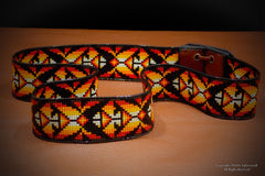 Medicine Bow Native American Beaded Hat Band