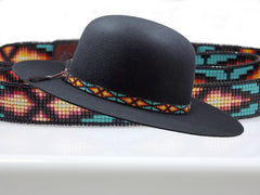 Native American Beaded Everlasting Life Hat Band