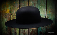 Billy Jack Reproduction of a Vintage 1800's Authentic Style Wool Dome Crown Hat