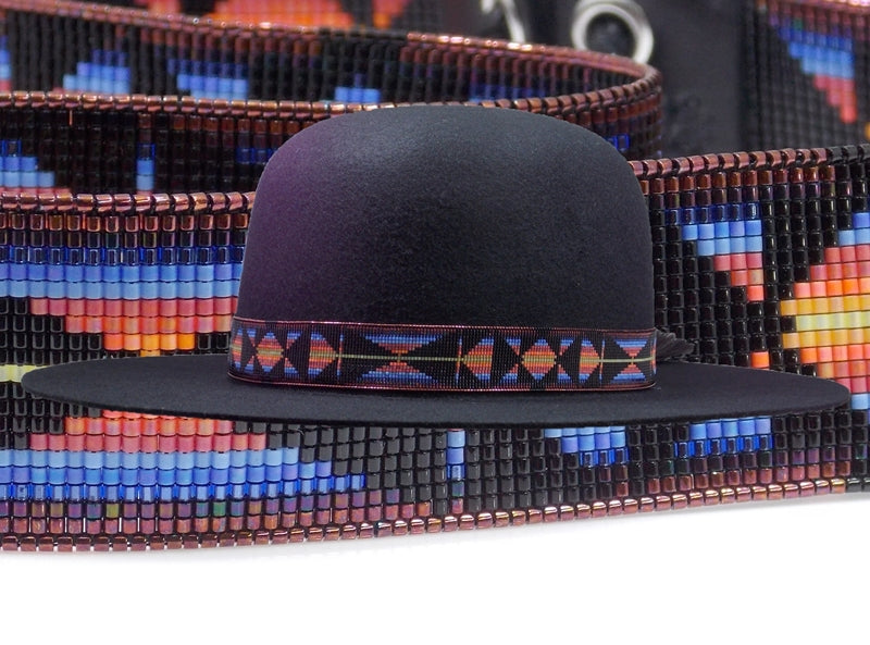 Native American Beaded Southwestern Sunset Hat Band