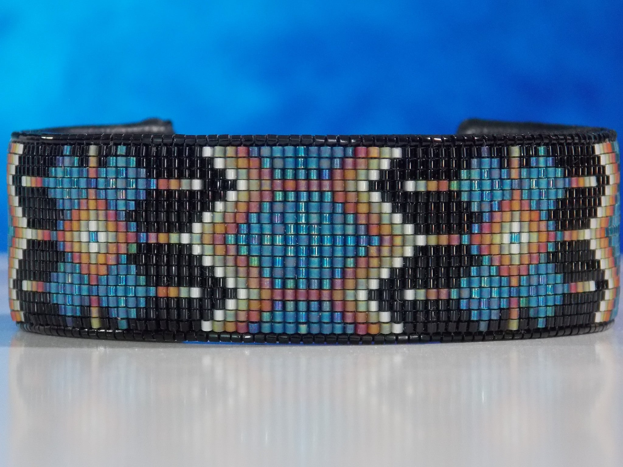 Native American Beaded Morning Star Cuff Bracelet Ljgreywolf