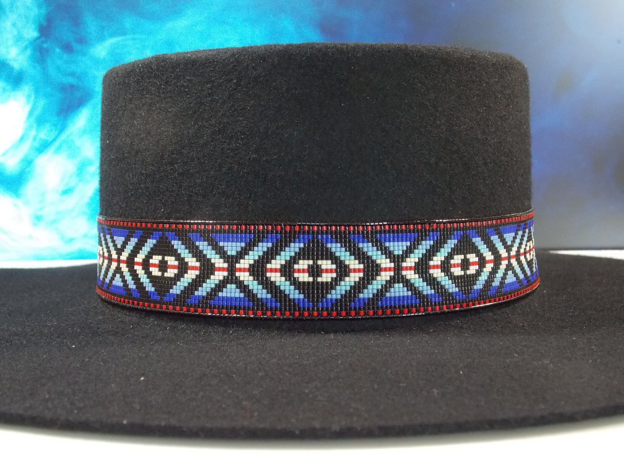 Native American Beaded Eye Of The Medicine Man Hat Band