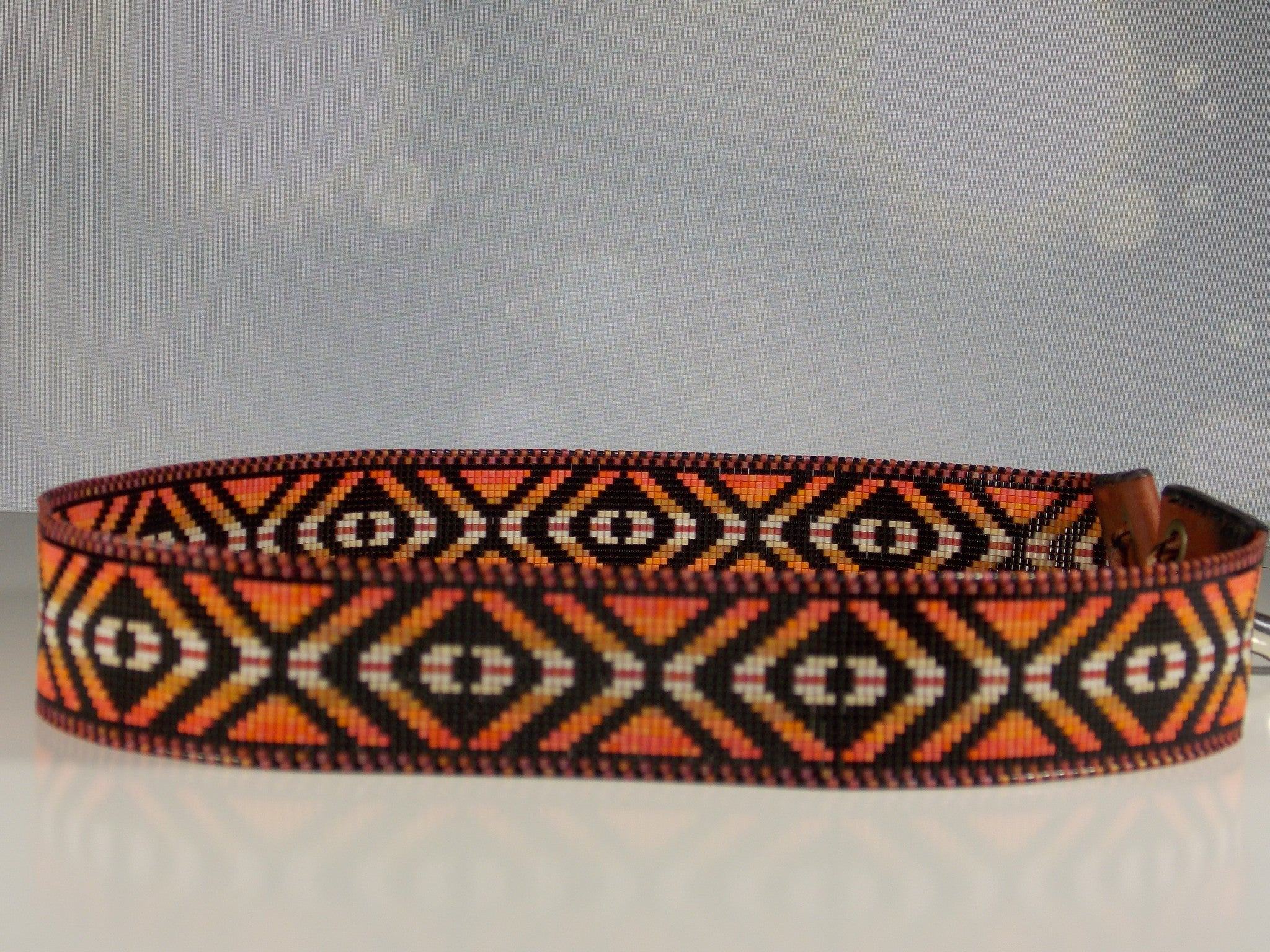 six bands zuni beaded image hat