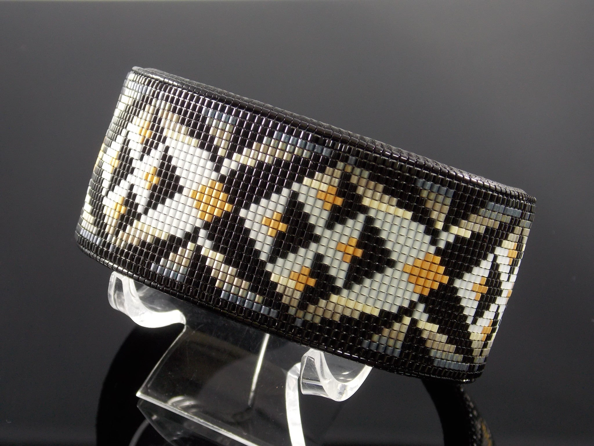 The Yuma Native American Beaded Cuff Bracelet By LJ Greywolf