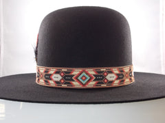 Beaded Copper Chevron Hat Band