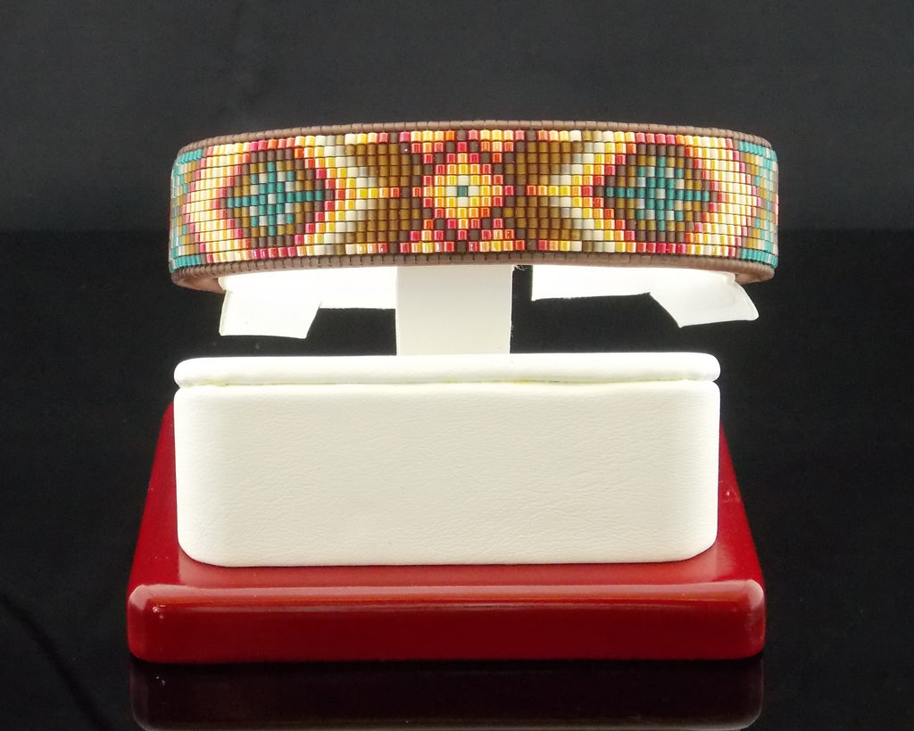 The Santa Fe Native American Beaded Cuff Bracelet