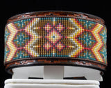 The Santa Fe Native American Hand Tooled Leather Bracelet