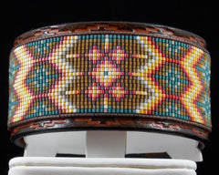 The Santa Fe Hand Tooled Leather Bracelet