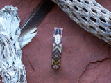 Feather Diamond Native American Beaded Leather Bracelet 1