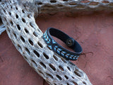 Native American Beaded Herringbone Leather Bracelet 4