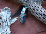 Feather Diamond Native American Beaded Leather Bracelet 4