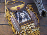 Chief Joseph 1903 Portrait Beaded Deerskin Bag 3