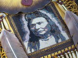 Chief Joseph 1903 Portrait Beaded Deerskin Bag 1