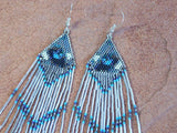 Call of the Wild Wolf Eyes Native American Beaded Earrings