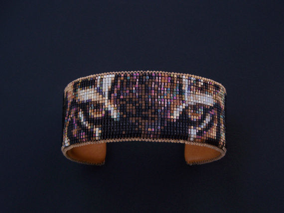 Wildlife Series Beaded Bengal Tiger Cuff Bracelet